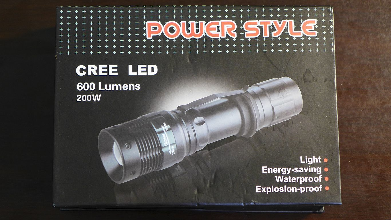 Power Style Cree Q5 LED 手電筒