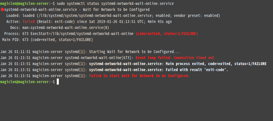ubuntu-start-job-wait-network